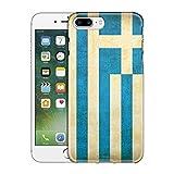 Apple iPhone 7 Plus Case, Snap On Cover by Trek Greek Vintage Flag Slim Case