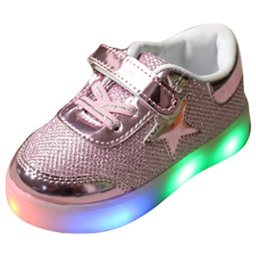 on sale a913a 5eb32 Sunching Jungen Mädchen Prewalk LED Schuhe Lingt Up Sneaker