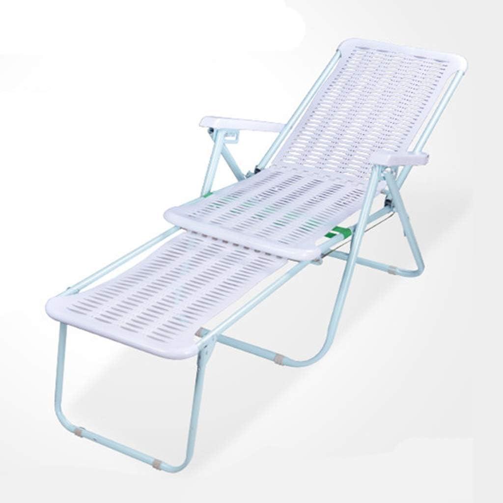 Zcyg Tumbona Plegable plástico Portable reclinable Ocio al Aire Libre tumbonas for Sun Beach Jardín Balcón sillas de Camping Cubierta reclinables: Amazon.es: Hogar