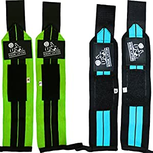 """Wrist Wraps (2 Pairs/4 Wraps) 14"""" for Weightlifting 