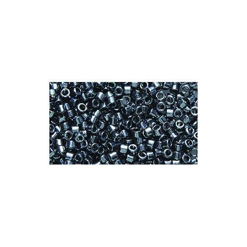 Miyuki Delica Seed Bead 11/0 DB453, Galvanized Dark Gunmetal, 9-Gram/Pack - Delica Bead Loom