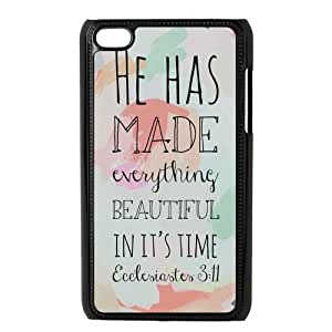 Life Quotes Design Snap On Hard Plastic Case For Ipod Touch 4