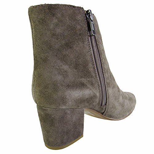Steve Madden Womens Holster Ankle Bootie Grey Suede