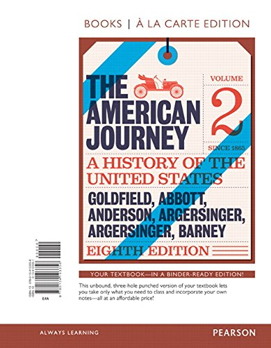 American Journey, The, Volume 2, Books a la Carte Edition