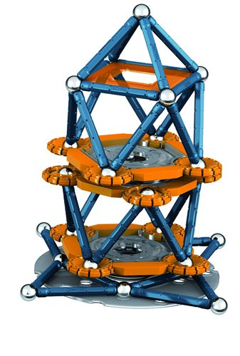 Geomag 222-Piece Mechanics Construction Set – Mentally Stimulating for Children and Adults – Safe and Construction – For Ages 5 and Up