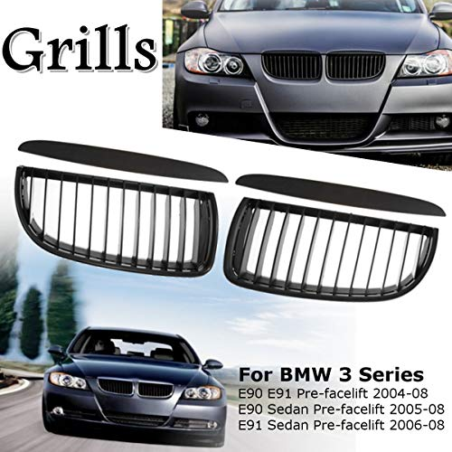 Udele-Store - Black ney Grills 05-08 Sports Grilles M3 for BMW E90 E91 3 Series Pre-Face Lift 2005-2008
