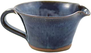 product image for American Made Stoneware Pottery Mixing Bowl with Handle in Midnight Blue (Mini Size 12 oz)