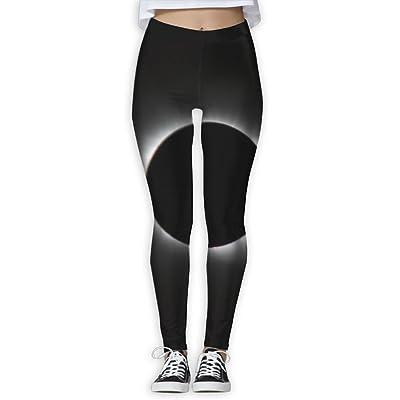 EWDVqqq Women/Girl Yoga Pant Total Solar Eclipse High Waist Fitness Workout Leggings Pants