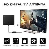 Rucan TV 80 Miles Range Flat HD Digital Indoor Amplified TV Antenna with Amplifier (A)