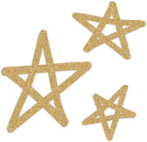 Heidi Swapp Oh What Fun 3 Piece Star Glitter Wall Words, Gold ()
