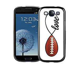 Elegant Samsung Galaxy S3 Case I9300 American Football Infinity Love Durable Soft Silicone TPU Black Phone Cover Accessories