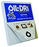 Oil Dri L70320 put over the spill white Quick-Sorb Oil pad, tablet of 20, 15'' x 19''
