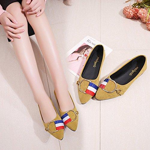 los Shoes estirar luz A mujeres mujer para mujer de yardas moda las zapatos XXM de zapatos de cuatro 41 estaciones 36 de casual la A zapatos estudiante de mujer amarillo de zapatos los de de zapatos Xwdt5x