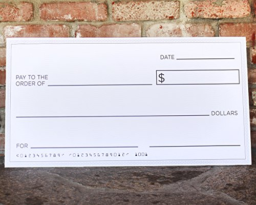 Blue Panda Giant Checks - 5-Count Paper Giant Fake Novelty Checks, Large Presentation Checks for Endowment Award, Donations, and Fundraisers, Each Big Check Measures 30 x 16 Inches by Blue Panda (Image #3)