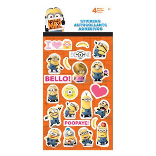 - Despicable Me 2 Minions Standard Stickers 4 Sheets
