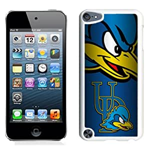 Popular And Durable Designed Case With NCAA Colonial Athletic Association CAA Football Delaware Fightin Blue Hens 1 Protective Cell Phone Hardshell Cover Case For iPod Touch 5 Phone Case White