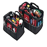 Husky 12 Inch and 15 Inch Water Resistant Tool Bag Multi Pack (2 Piece Storage Bundle)