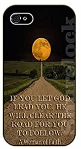 For SamSung Note 2 Case Cover Bible Verse - If you let God lead you, he will clear the road for you to follow. Moon - black plastic case / Verses, Inspirational and Motivational