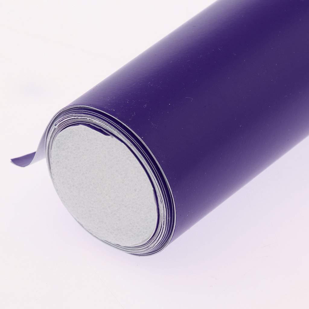 H HILABEE Universal Protector Pegatina Adhesiva de Sat/én Mate para Decoraci/ón Moto Blanco