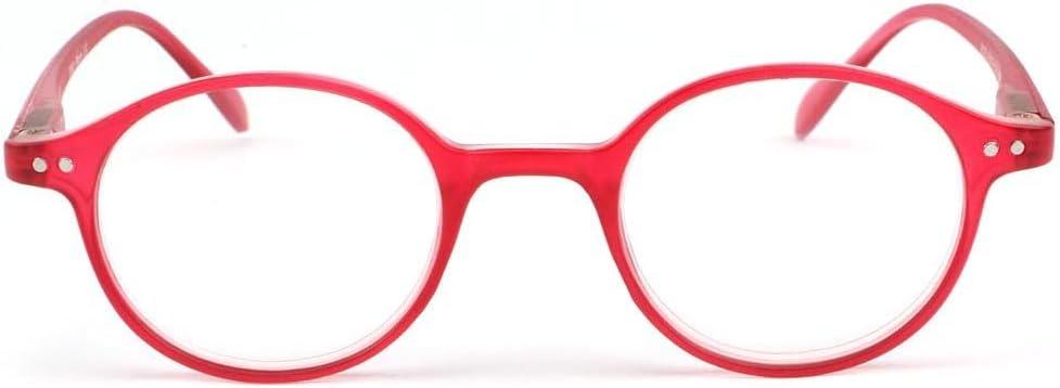 Lunette loupe ronde Rouge transparent Flex Femme