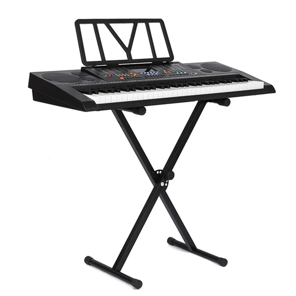 Keyboard Stand Piano Keyboard Stand Synthesizer Stand Home Single Tube X-Type Keyboard Bracket for 61/88 Keys (Color : Black, Size : High 98cm) by Synthesizers & Workstations
