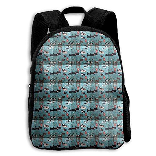 Cute Blue Dog Pets Boys Girls Popular Printing Toddler Kid Pre School Backpack Bags Lightweight Travel
