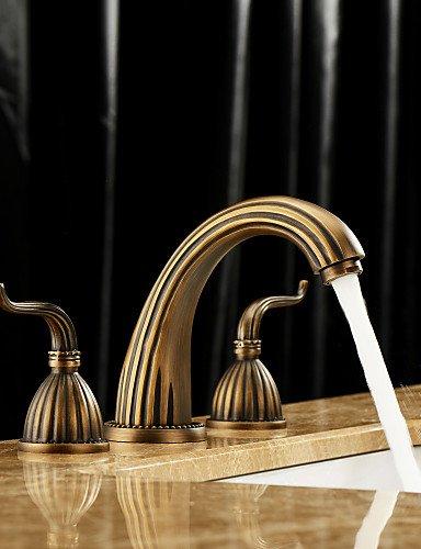 Messing antik Finish verbreitet Waschbecken Wasserhahn