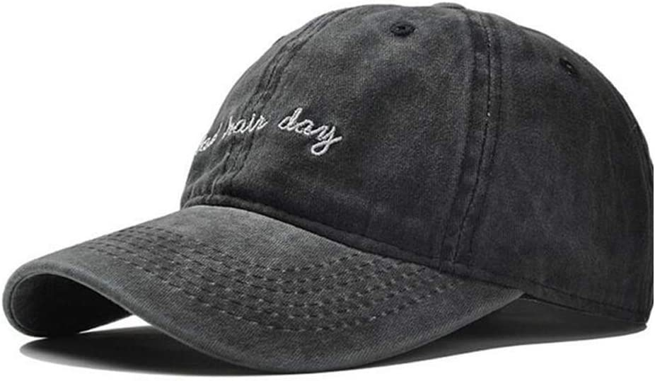 Cap Men WomeAdjustable Cotton Baseball Cap Short-haired Day Solid Color Baseball Cap Couple Hat Fashion Dad Hat WZCUICAN Color : Black, Size : 56-60CM