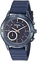 Fossil Q Modern Pursuit Gen 2 Women's Navy Blue Silicone Hybrid Smartwatch FTW1136