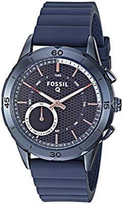 Fossil Hybrid Smartwatch - Q Modern Pursuit Navy Blue by Fossil Watches