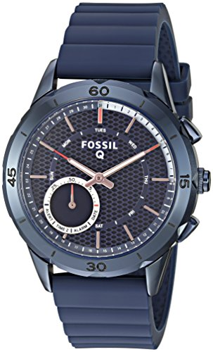 Fossil-Q-Modern-Pursuit-Gen-2-Womens-Navy-Blue-Silicone-Hybrid-Smartwatch-FTW1136