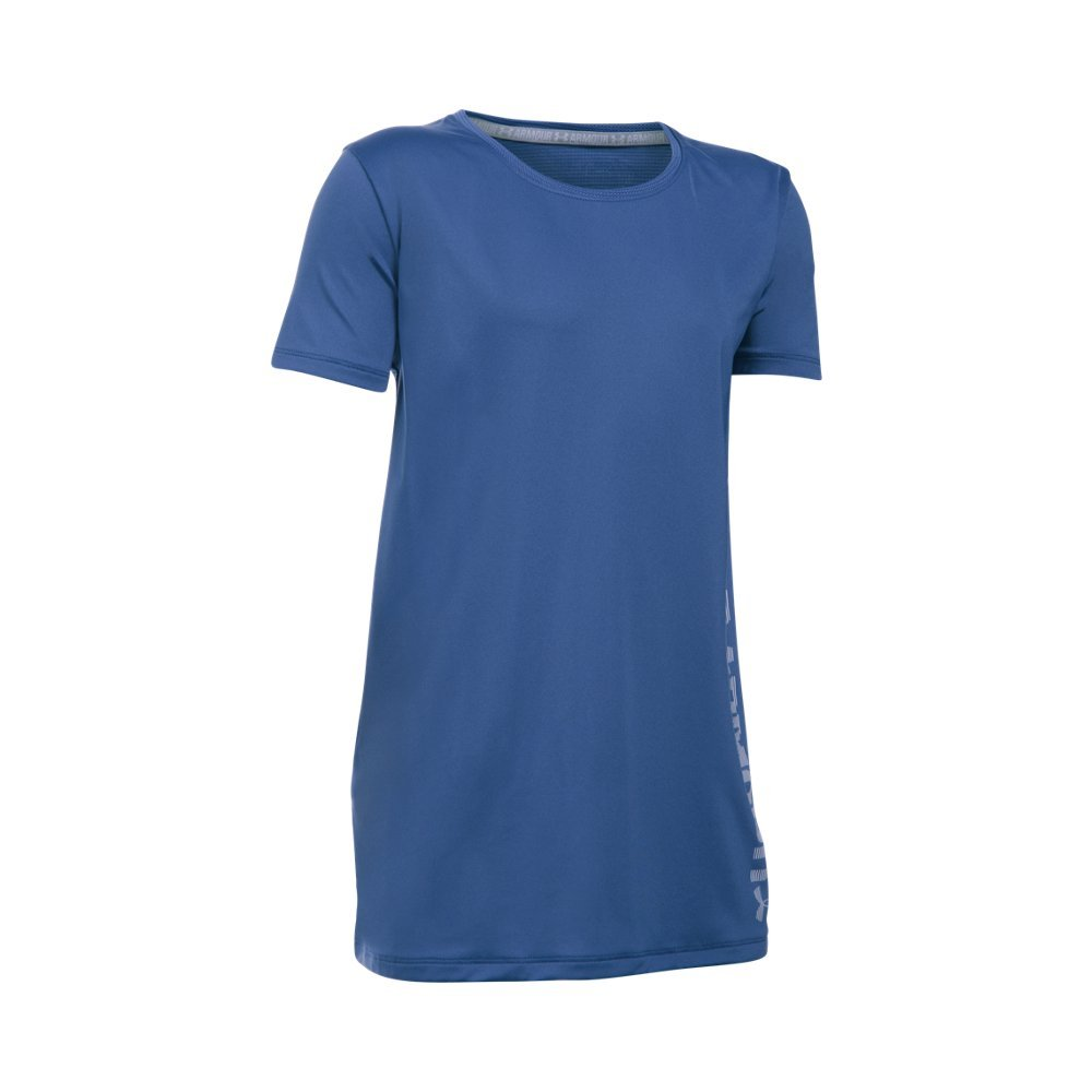 Under Armour Girls' Armour Short Sleeve, Deep Periwinkle /Lavender Ice, Youth X-Small