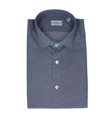 Bagutta Men's Berlinoebl08972653 Blue Cotton Shirt