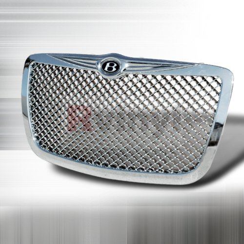 Chrome Mesh Bentley Grille (Chrsyler 300 300C 2005 2006 2007 2008 2009 2010 Mesh Grille Bentley Style - Chrome)