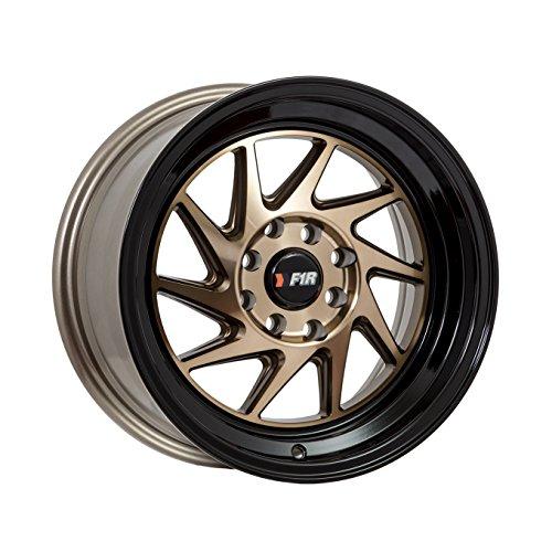 15x8 F1R F07 Bronze w/ Black Lip Rim Offset(25) Lug(4x100/4x114.3) Bore(67.1) 1 Wheel -- F07158BZBK25 by F1R Wheels