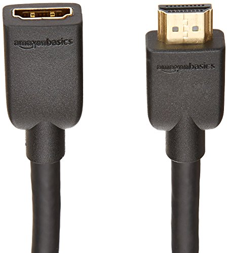 AmazonBasics High-Speed Male to Female HDMI Extension Cable - 6 Feet