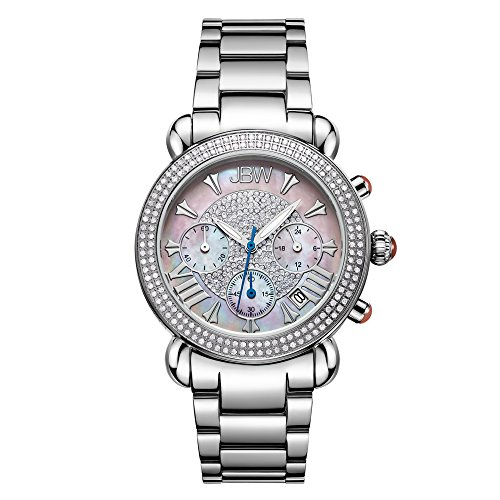 JBW Luxury Women s Victory 1.60 ctw Diamond Wrist Watch with Stainless Steel Link Bracelet