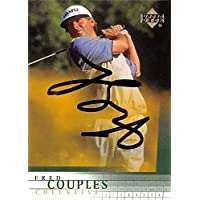 $42 » Fred Couples autographed golf card (PGA, Houston Cougars, SC) 2001 Upper Deck #198 - Autographed Golf Equipment