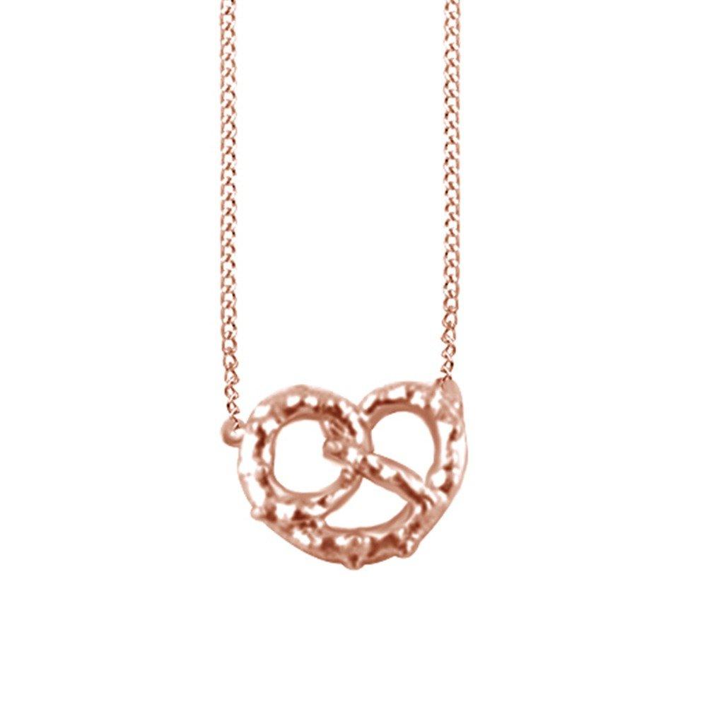 Amazon.com: 14 K Plata de ley chapada en oro fashion Pretzel ...