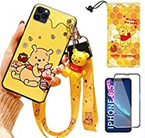 """iPhone XR case with HD Screen Protector, Cute Stitch Cartoon 3D Character Silicone Cover Case for Apple iPhone XR 6.1""""..."""