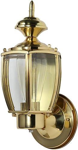 Design House 501486 Jackson 1 Light Indoor Outdoor Wall Light, Solid Brass