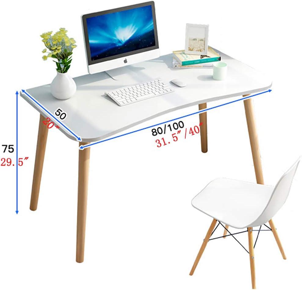 31x16x30in Table Bureau D/'/étude Simple Moderne,Bureau Informatique Coin Table Informatique Table De Bureau Bureau Dordinateur Simpliste Une Trame Bois Meubles pour La Maison-a 80x40x75cm