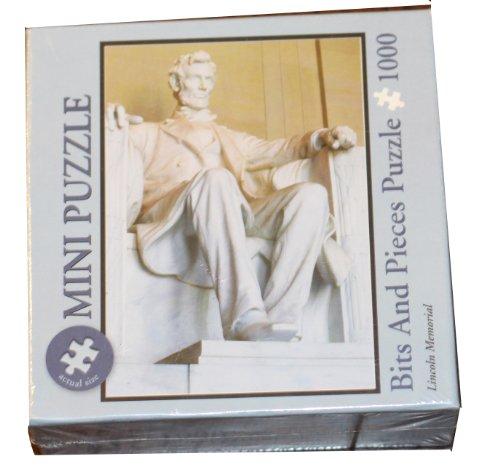 Bits & Pieces Mini-Puzzle - 1000 Pieces - Abraham Lincoln Memorial, Washington, -