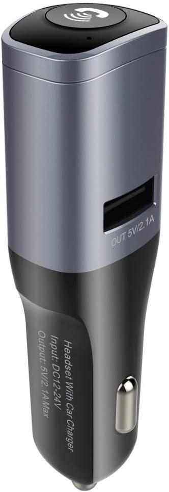 Mini Auricular Bluetooth 2 En 1 Cargador USB Transmisor FM Bluetooth Adaptador De Radio con Auriculares Manos Libres Accesorios De Carro