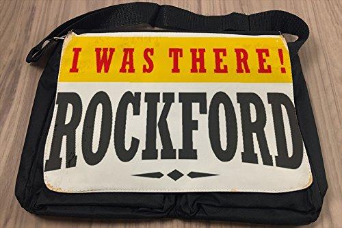 Borsa Tracolla Retro Arte Metropole Rockford USA Stampato