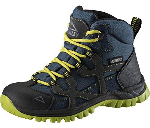 McKinley Kinder Trekkingstiefel Santiago Pro AQX, Botas de Senderismo Unisex Niños Grau (Anthracite/ Blue Dar 000)