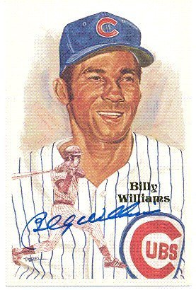 Autographed/Hand Signed Billy Williams Perez-Steele Post Card ()