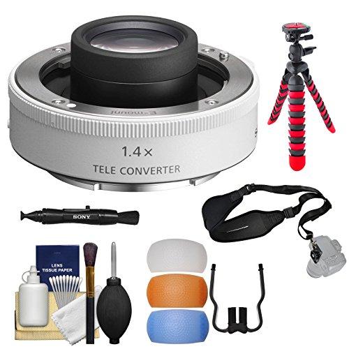 Sony Alpha FE E-Mount 1.4X Teleconverter Lens with Flex Tripod + Strap + Kit
