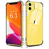 Wireless : BELONGME Compatible with iPhone 11 Case 2019, Crystal Clear Case with 4 Corners Shockproof Protection Soft Scratch-Resistant TPU Cover for iPhone 11 6.1 inch.