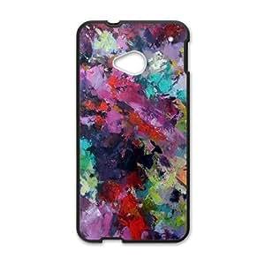 Colorful graffiti oil painting Phone Case for HTC One M7 wangjiang maoyi